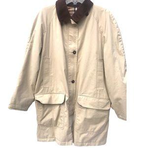 Burberry jacket Medium M plaid tan coat nova men's